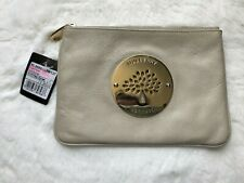 NEW MULBERRY Beige Patent Leather Clutch