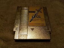 Zelda II: The Adventure of Link Gold Nintendo NES Cartridge  *Cart/Label Wear*