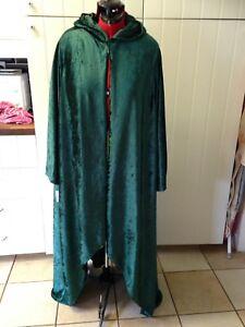 oversized bottle green hooded Crush Velvet  shorter in front than back hocus poc