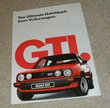 Volkswagen VW Golf GTI Mk2 Brochure 1985
