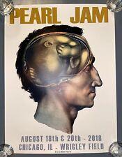 "PEARL JAM WRIGLEY FIELD 8-18 /& 8-20 CONCERT /""BATTER/"" POSTER NEW MINT"