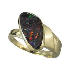 schmuck-michel Ladies Ring Gold 585 Boulder Opal - Unique - Size 57 (R7)