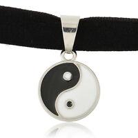 Charm Yiyang Pendant Black Velvet Ribbon Gothic Boho Choker Necklace Jewelry