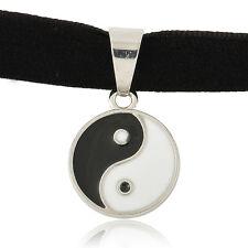 Celebrity Black Velvet Ribbon Choker Necklace Gothic Boho Yiyang Pendant Gift