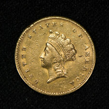 1854 TYPE-2 G$1 INDIAN PRINCESS HEAD GOLD DOLLAR LOT#S214