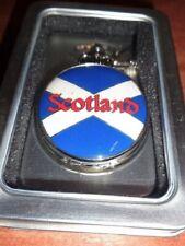SCOTLAND St. Andrew Enamel Cross Ravel Pocket Watch with Chain