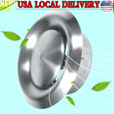 125mm Air Vent For Wall Ceiling Stainless Steel Round Ventilation Duct Cover