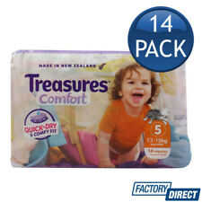 TREASURES COMFORT NAPPIES WALKER 13-18Kg DIAPERS NAPPY QUICK DRY SIZE 5 14 PACK