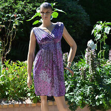 Robe Femme été cache coeur cintrée taille unique 38 à 44 rose alix  ZAZA2CATS.fr