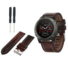 For Garmin Fenix 5X Luxury Leather Replacement Watch Strap Wristband With Tools