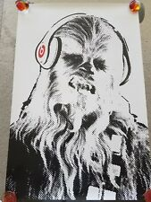 STAR WARS - BEATS BY DRE feat. Chewbacca RARE 24x36 Promo Poster