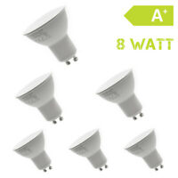 6 x GU10  LED 230V 8W Warmweiß Strahler Lampe Birne Spot