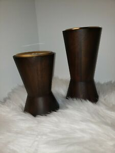 """Varied Heights Modern Pillar Candle Holder Set of 2 - 6"""" & 8"""" from Target"""