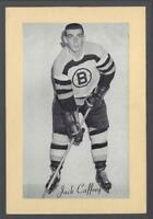 1944-63 Beehive Group II Boston Bruins Hockey Photos #10 Jack Caffery