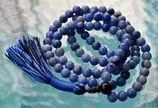 Blue Aventurine & Black Onyx Handmade Mala Beads Necklace - Energized Karma, Nir