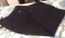 Cubavera linen mix black trousers with drawstring waist VGC Size X-Large 40-42