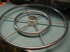 HELM  WHEEL    SAILBOAT  6 SPOKE  DOUBLE RING    24''  STAINLESS  NICE