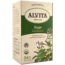 Alvita Organic Tea Bags, Sage 24 ea
