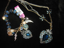 BETSEY JOHNSON HEAVENS TO BETSEY HEART WITH WINGS NECKLACE AND MATCHING BRACELET