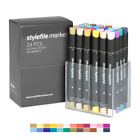 Stylefile Classic Dual-Tip Ink Marker Main B Set 24pc Graffiti Sketch Art