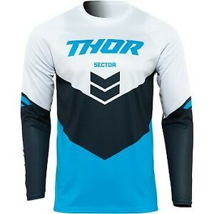 Thor Sector Chevron Jersey Blue/Midnight for Offroad Motocross - Men's Sizes