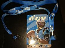 Carolina Panthers NFL football team Play60 card LOT + 2 Lanyards key strap chain