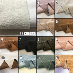 Lamb Wool Sherpa Fleece Warp Suede Fabric Lining Craft Cloth Flutty Warm Trim