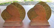 Handcrafted 1001 Arabian Nights Copper & Brass Bookends Figural Woman 3-D Design