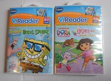 VTech V.Reader, set of 2, Sponge Bob Model Sponge, Dora & Three Little Pigs