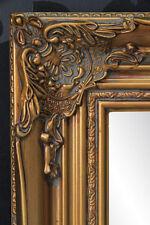 Espejo de pared Dorado Baño pasillo ANTIGUO Barroco Repro Shabby 55x45