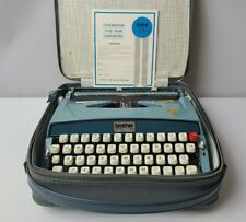 Vintage RARE 1960's Manual Typewriter Brother Opus 888 Made in Japan Blue TESTED