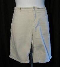 Denim & Co 20W 20 Khaki Beige Denim Shorts Stretch Plus Size