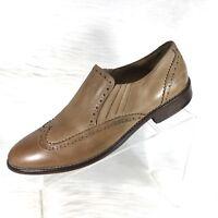 J&M 1850 Johnston & Murphy Mens Brown Wingtip Loafers Size 9 M