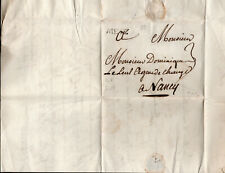 France 1758 Cover Metz to Nancy with content Postal History (2)