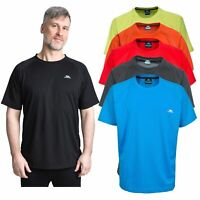Trespass Debase Mens Short Sleeve Summer Top Hiking T-Shirt Red Black Blue