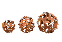 L bis XXL Kugel Schmetterlinge Edelrost Skulptur Deko Garten Terrasse 3 Grössen