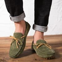 Men's Suede Boat Driving Shoes Casual Loafers Moccasins Slip On Fashion Gommino