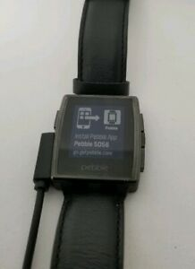 Pebble Steel 401b Smartwatch leather for PARTS NO RETURNS Grade READ With charge