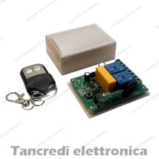 Modulo Relè 2 canali 230 220 V Volt + Telecomando 433mhz Wireless Interruttore