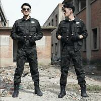 Sport Mens Tactical training uniform Camouflage Military Suit Combat Clothes