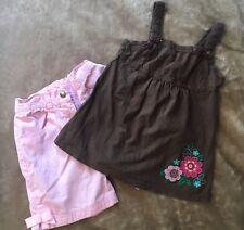 Gymboree Shorts & Sonoma Shirt Girls Size 6 Pink Brown Girls Lot