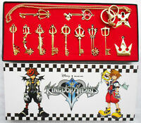 12pcs Kingdom Hearts II KEY BLADE Necklace Pendant+Keyblade+Keychain Hot Golden