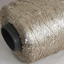 Sale 1Cone 500g Nylon Polyester Sequin Hand Knitting Wrap Shawls Crochet Yarn 10