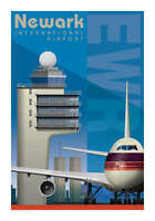 "JA049 EWR NEWARK AIRPORT POSTER ART PRINT 14"" X 20"" BY ARTIST CHRIS BIDLACK"
