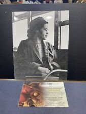 New Listing8x10 Black And White Autographed By Rosa Parks With Coa