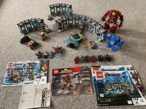 Marvel Lego 76125 Iron Man Hall Of Armor 76167 Armory 76031 Hulk Buster +extras
