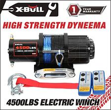 X-BULL 12V 4500LBS Electric Winch Towing Truck Synthetic Rope Off Road 4000LBS