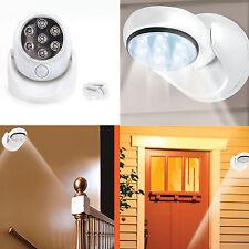 360 Degree Rotation Wireless Indoor Motion Sensor 7 LED Security Safety Light