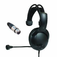SINGLE MUFF Clear-Com RTS Telex BTR HME Intercom headphones w/Mic Earphones XLR4