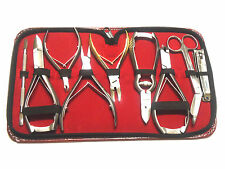 9PCS COMPLETE PODIATRIST TOE NAIL CUTTERS CLIPPERS INGROWN VARIETY TOOLS KIT NEW